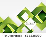 squares geometric object in... | Shutterstock .eps vector #696835030