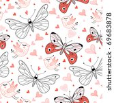 texture love butterflies and... | Shutterstock .eps vector #69683878
