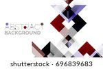 business presentation geometric ... | Shutterstock . vector #696839683
