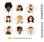 characters avatars in cartoon... | Shutterstock .eps vector #696839920
