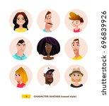 characters avatars in cartoon...