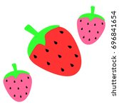 abstract strawberry background...   Shutterstock .eps vector #696841654