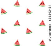 pattern of sweet juicy pieces... | Shutterstock .eps vector #696843484