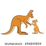 cartoon animals. mother...   Shutterstock .eps vector #696845854