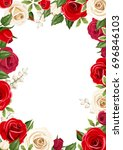 vector frame background with... | Shutterstock .eps vector #696846103