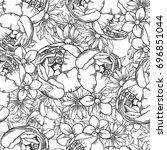 abstract elegance seamless... | Shutterstock . vector #696851044
