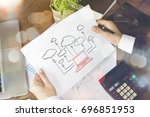 cloud computing concept. | Shutterstock . vector #696851953