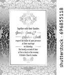 vintage baroque style wedding... | Shutterstock . vector #696855118