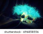 carnival mask | Shutterstock . vector #696858556