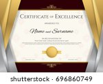 luxury certificate template... | Shutterstock .eps vector #696860749