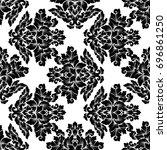damask seamless pattern...   Shutterstock . vector #696861250