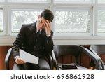 business situation job... | Shutterstock . vector #696861928