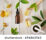 natural beauty  cosmetic... | Shutterstock . vector #696863563