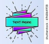 banner template with memphis... | Shutterstock .eps vector #696864958