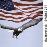 American Eagle Flying  And...