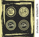 retro vintage labels with... | Shutterstock .eps vector #696866974