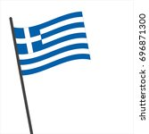 flag of greek   greek flag... | Shutterstock .eps vector #696871300