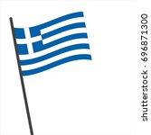 flag of greek   greek flag... | Shutterstock .eps vector #696871300