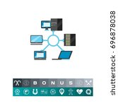 network topology icon | Shutterstock .eps vector #696878038