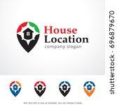 house location logo template... | Shutterstock .eps vector #696879670