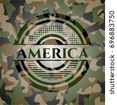 america on camouflage texture | Shutterstock .eps vector #696883750