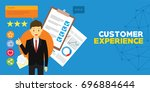 customer experience and client... | Shutterstock .eps vector #696884644