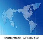 world map vector | Shutterstock .eps vector #696889510