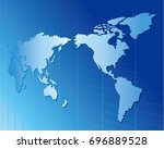 world map vector | Shutterstock .eps vector #696889528