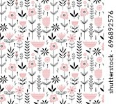 seamless vector pattern with... | Shutterstock .eps vector #696892576
