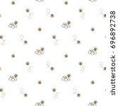 Seamless Pattern Of Bee And...