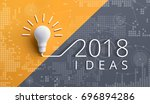 2018 creativity inspiration... | Shutterstock . vector #696894286