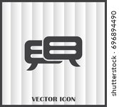 chat icon in trendy flat style... | Shutterstock .eps vector #696894490