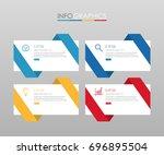 modern info graphic template... | Shutterstock .eps vector #696895504