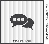 chat icon in trendy flat style... | Shutterstock .eps vector #696897190
