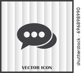 chat icon in trendy flat style... | Shutterstock .eps vector #696898990