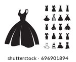 woman dress vector icon... | Shutterstock .eps vector #696901894