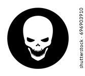 white skull icon  a vector...   Shutterstock .eps vector #696903910