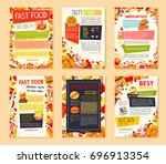 fast food meal banner template... | Shutterstock .eps vector #696913354