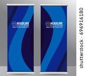 roll up business brochure flyer ... | Shutterstock .eps vector #696916180