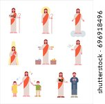 Jesus Character Story Vector...