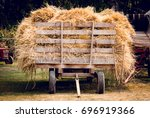 A Vintage Wagon Full Of Hay
