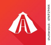 camping tent vector icon.... | Shutterstock .eps vector #696919444