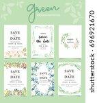 wedding invitation card... | Shutterstock .eps vector #696921670