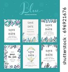 wedding invitation card... | Shutterstock .eps vector #696921676