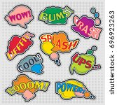 color funny cartoon superhero...   Shutterstock .eps vector #696923263