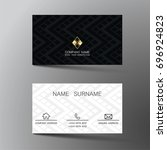 business card. inspired by... | Shutterstock .eps vector #696924823