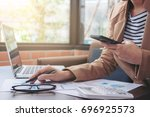 business financing accounting... | Shutterstock . vector #696925573