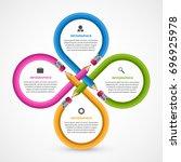 education infographics template ... | Shutterstock .eps vector #696925978