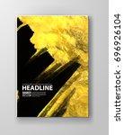 vector black and gold design... | Shutterstock .eps vector #696926104