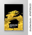 vector black and gold design... | Shutterstock .eps vector #696930610